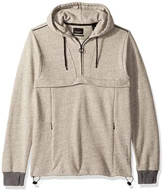 Scotch & Soda Men's Club Nomade Popover Hoody with Zipper Details