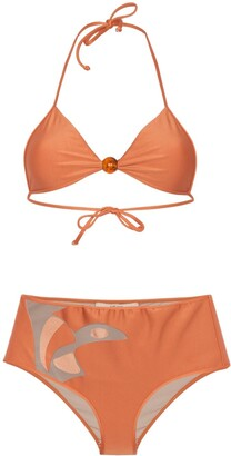 Adriana Degreas cut-out boxer bikini