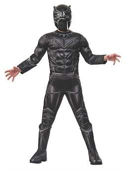 Deerfield Black Panther Premium Costume Size 3-5
