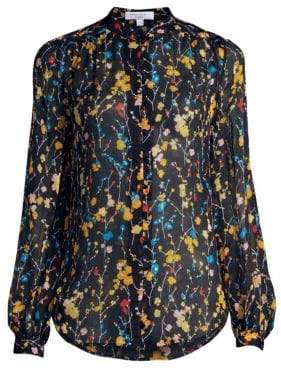 Equipment Cornelia Floral Silk Blouse