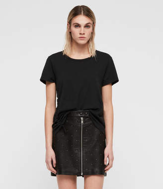 AllSaints Lena Stud Leather Skirt
