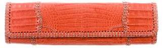 Carlos Falchi Fatto a Mano by Crocodile Patchwork Clutch