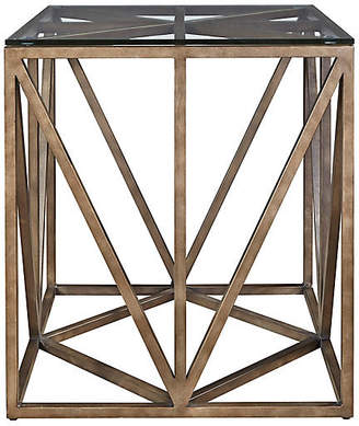 One Kings Lane Grant Side Table - Antiqued Bronze