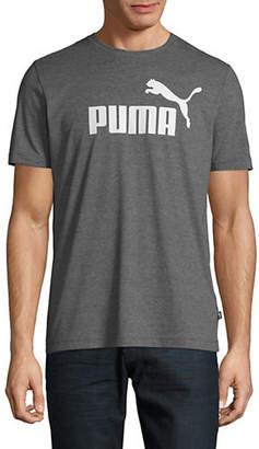 Puma Logo Heathered Tee