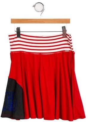 Junior Gaultier Girls' Knit Denim-Accented Skirt w/ Tags