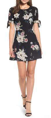 Leith Tie Sleeve Fit & Flare Dress