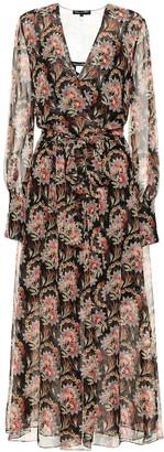 Oscar de la Renta Floral silk-chiffon wrap dress