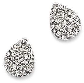 Adina Sterling Silver Pavé Diamond Teardrop Stud Earrings