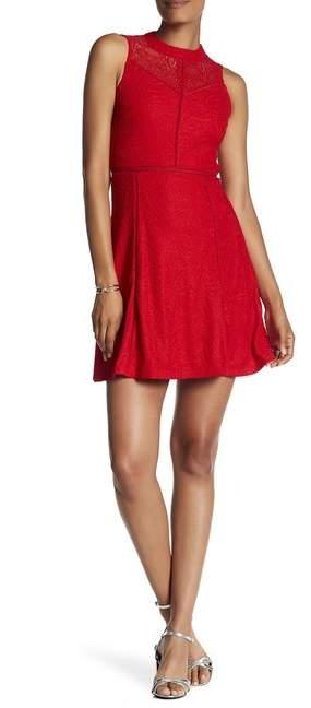 bebe Lace A-Line Dress