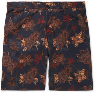 Etro Printed Stretch-Cotton Shorts