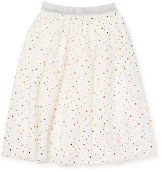 Billieblush Polka-Dot Flare Skirt