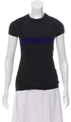 Reed Krakoff Wool-Cashmere Cap Sleeve Sweater Black Wool-Cashmere Cap Sleeve Sweater