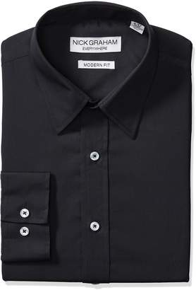Nick Graham Everywhere Men's Classic Fit Solid Dress Shirt