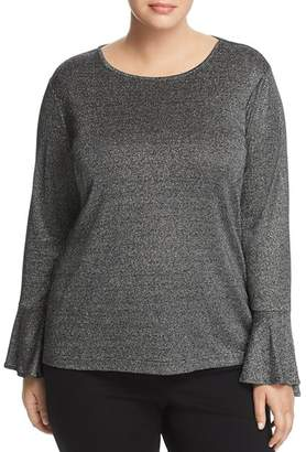 MICHAEL Michael Kors Metallic Bell Sleeve Top