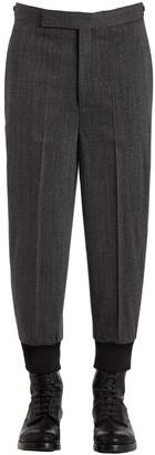 Neil Barrett Wool Twill Jogging Style Pants