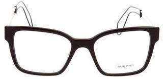 Miu Miu Wire Square Eyeglasses w/ Tags