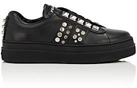 Prada Women's Studded Leather Sneakers - Nero