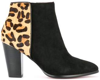 Loveless leopard ankle boots