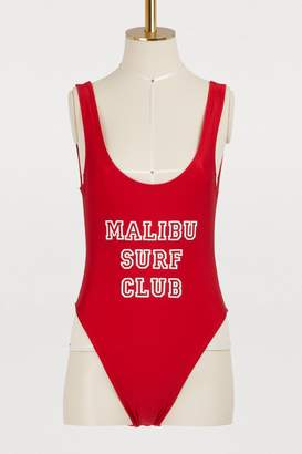 Private Party Malibu surf club one-piece swimsuit