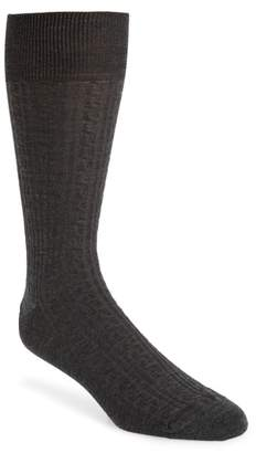 John W. Nordstrom R) Cable Knit Merino Blend Socks