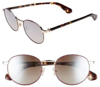 Kate Spade Adelais 50mm Round Sunglasses