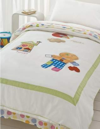 Happy Kids Gingerbread Man Single Quilt Cover Set
