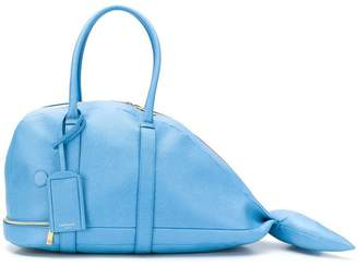 Thom Browne Pebbled Leather Whale Bag