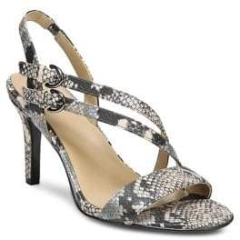 Naturalizer Kayla Snake Print Leather Sandals