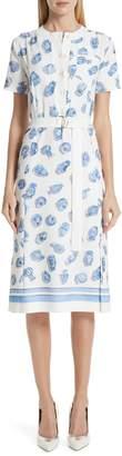 Altuzarra Pot Print Belted Midi Dress