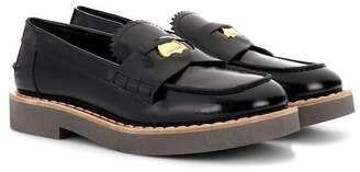 Miu Miu Glossed leather loafers