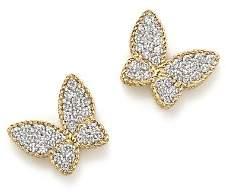 Roberto Coin 18K Yellow Gold Tiny Treasures Diamond Butterfly Earrings