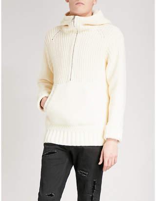 Alexander McQueen Chunky-knit cotton-blend hoody