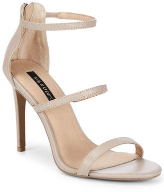 Ava & Aiden Leather Stiletto Heel Sandal