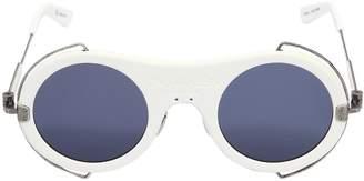 Calvin Klein Matte White Acetate Sunglasses