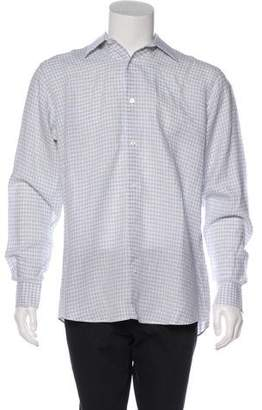Hermes Gingham Printed Dress Shirt