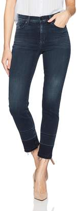 Hudson Jeans Women's Zoeey High Rise Straight Released Raw Hem