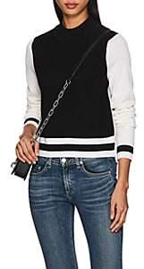 Rag & Bone Women's Dean Colorblocked Mock Turtleneck Sweater - Black