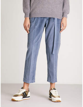 Brunello Cucinelli Straight cropped corduroy jogging bottoms