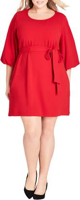 City Chic Bubble Sleeve Dress