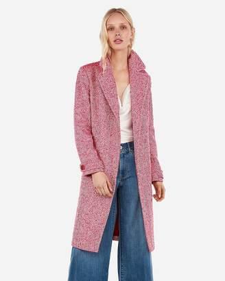 Express Wool-Blend Tie Front Coat