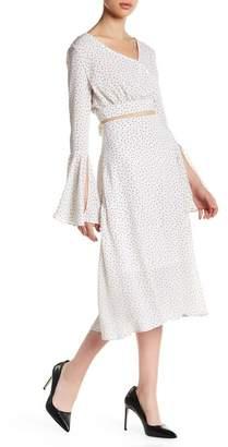 Few Moda Kimmy V-Neck Polka Dot Blouse & Skirt Set