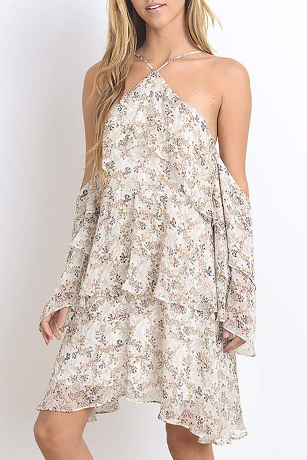 Hommage Floral Dress Ruffles