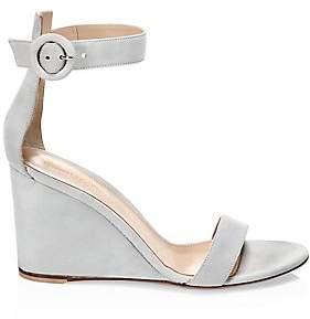 Gianvito Rossi Women's Suede Wedge Sandals