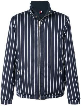 Thom Browne Downfilled Reversible Funnel Collar Jacket In Solid Memory Tech
