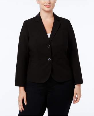 Calvin Klein Plus Size Two-Button Jacket