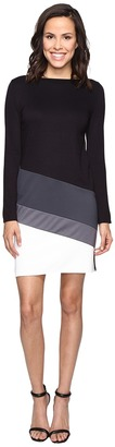 Christin Michaels Caprice Long Sleeve Color Block Dress $84 thestylecure.com