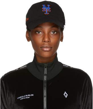 Marcelo Burlon County of Milan Black NY Mets Edition Cap
