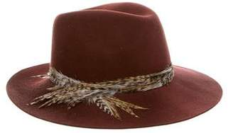 Eugenia Kim Wool Feather-Trimmed Hat w/ Tags