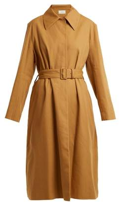The Row Rundi Panama Linen Trench Coat - Womens - Tan