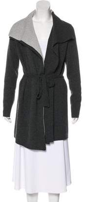 Magaschoni Knit Pointed-Collar Cardigan